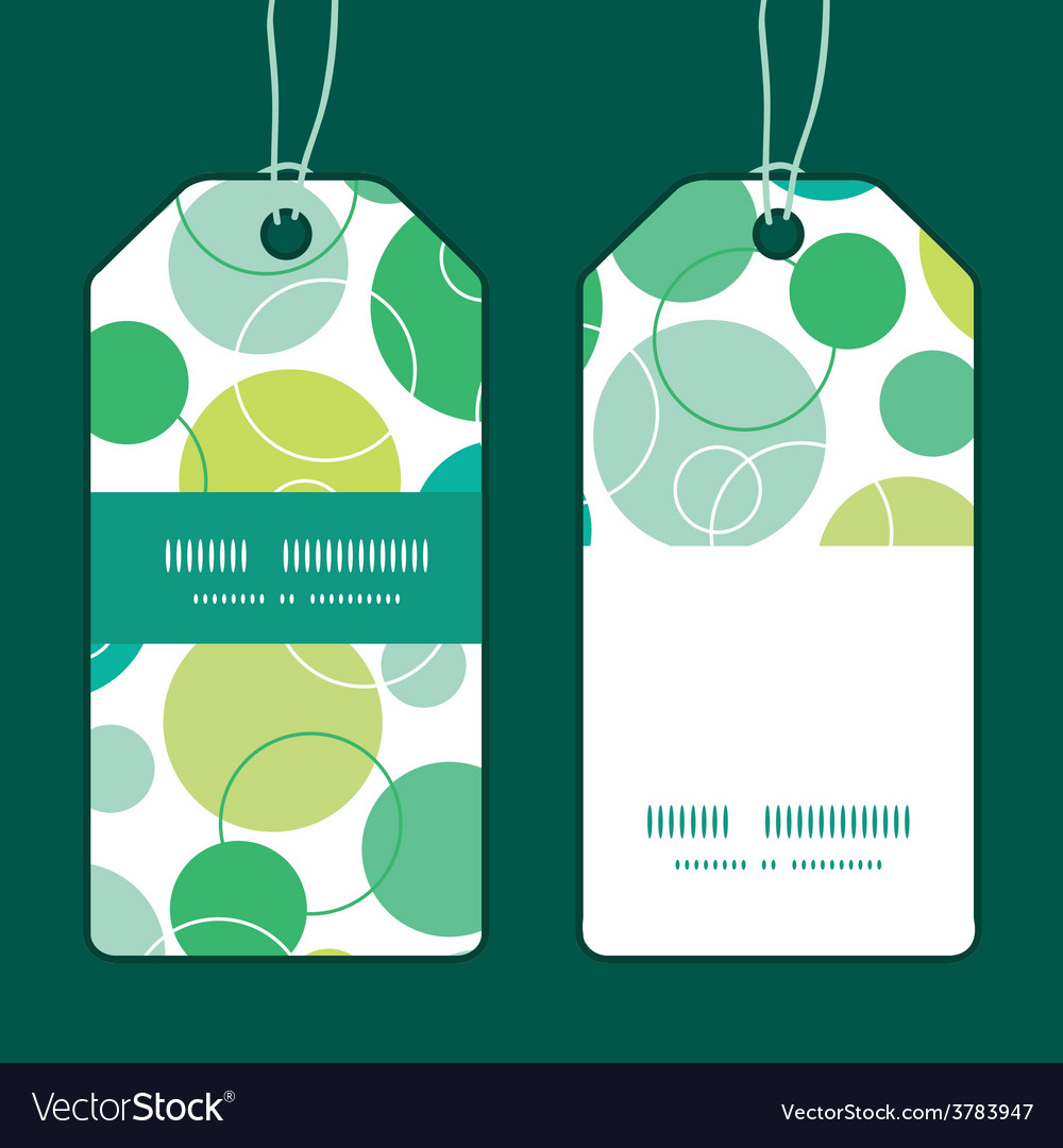 Abstract green circles vertical stripe vector | Price: 1 Credit (USD $1)