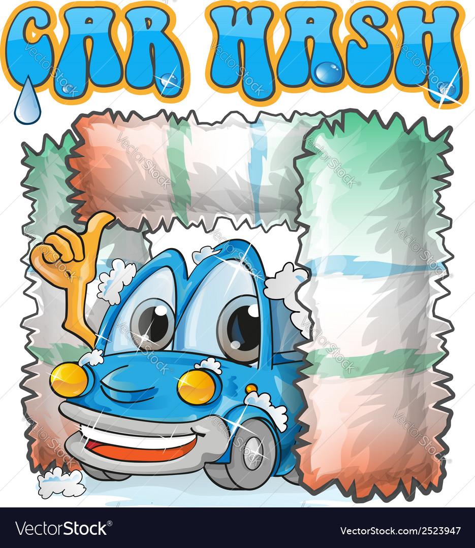 Car wash cartoon vector   Price: 1 Credit (USD $1)