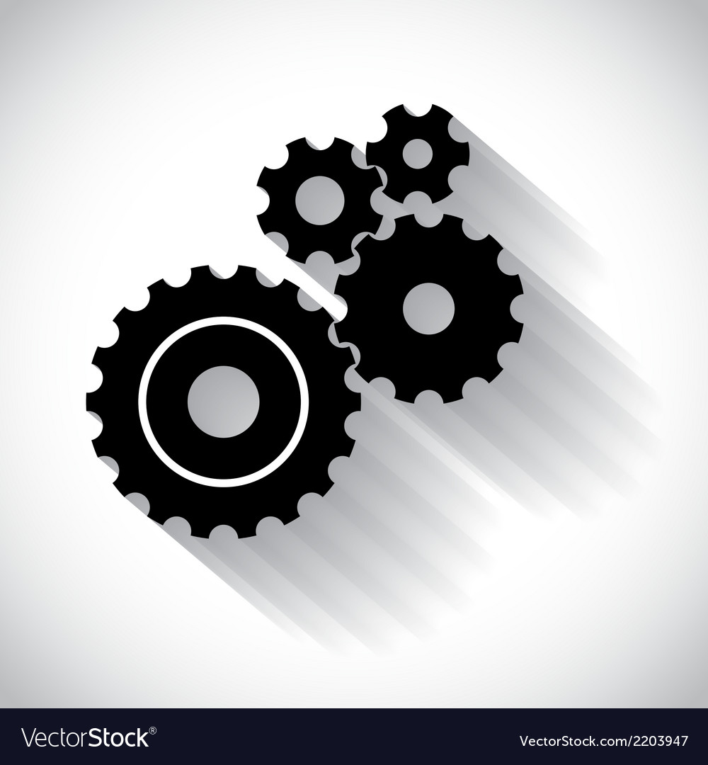 Cogwheels gears vector | Price: 1 Credit (USD $1)