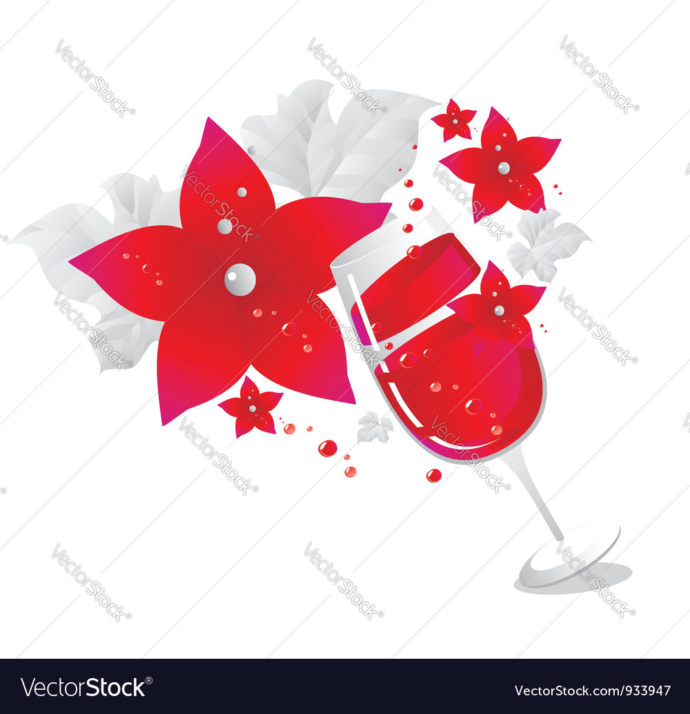 Decorated wine glass background vector | Price: 1 Credit (USD $1)