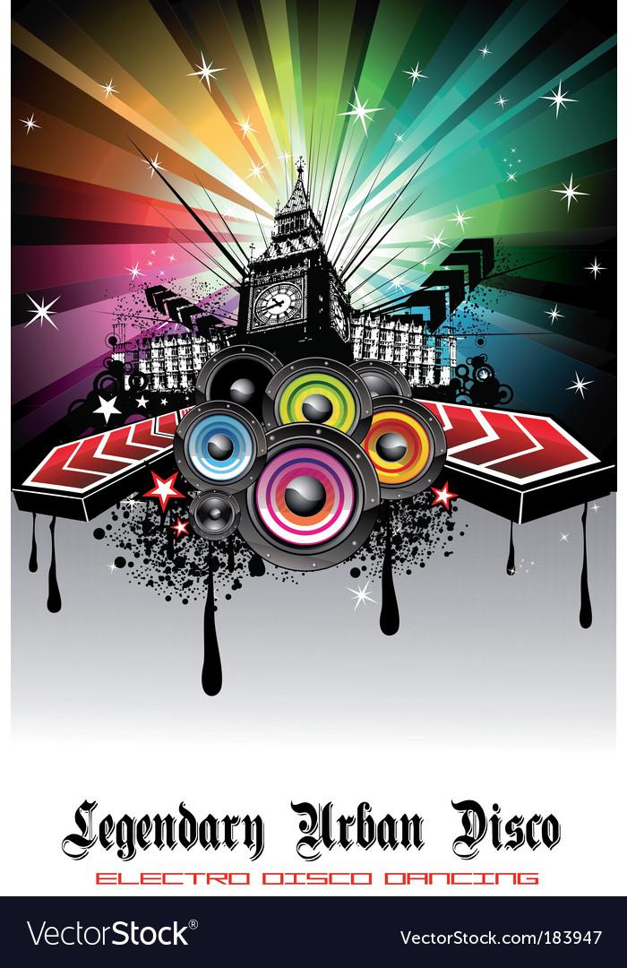 Disco background vector | Price: 3 Credit (USD $3)