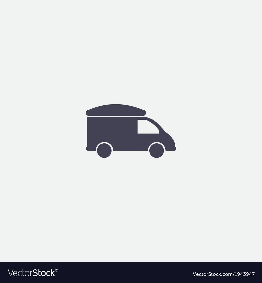 Refrigerator truck icon vector | Price: 1 Credit (USD $1)