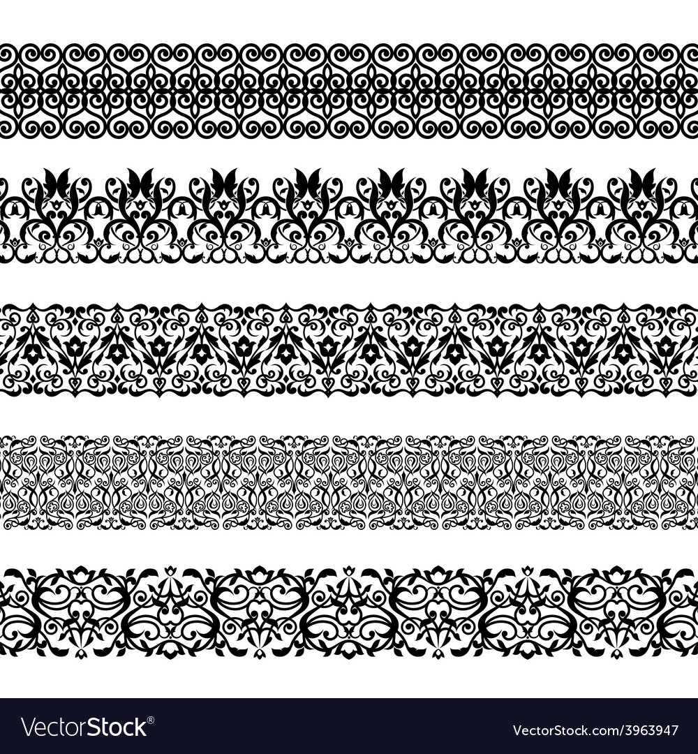 Set of repeating borders vector | Price: 1 Credit (USD $1)