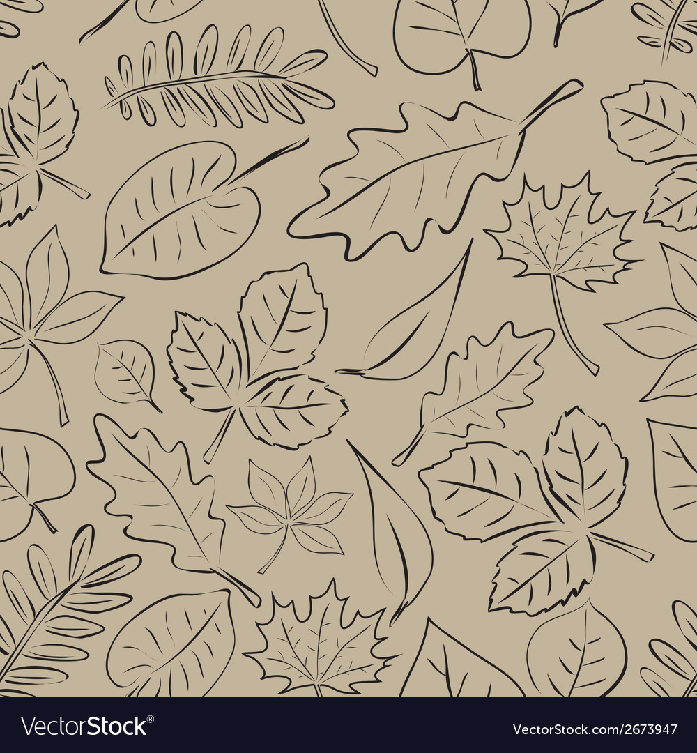 Simple autumn leaf seamless pattern eps10 vector | Price: 1 Credit (USD $1)