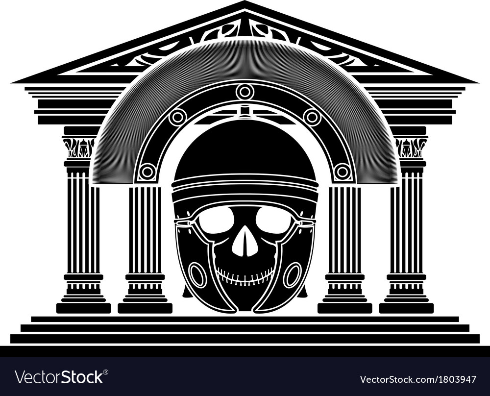 Skull of roman centurion vector | Price: 1 Credit (USD $1)