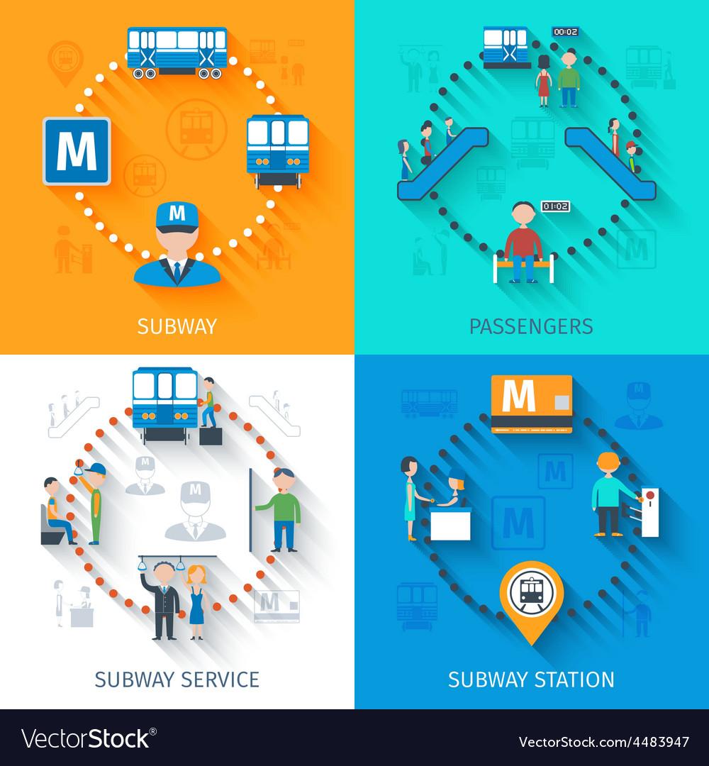Subway design concept set vector | Price: 1 Credit (USD $1)