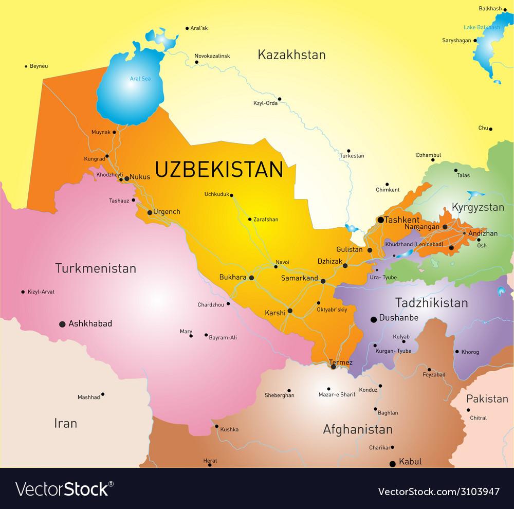 Uzbekistan vector | Price: 1 Credit (USD $1)