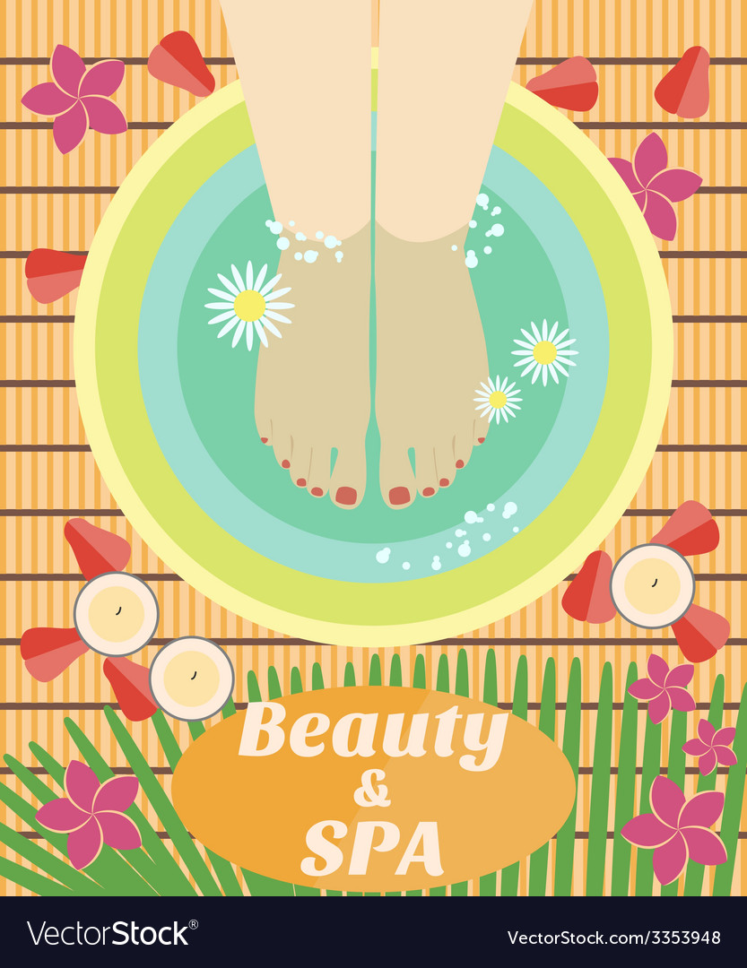 Beauty and spa procedures made in flat design vector | Price: 1 Credit (USD $1)