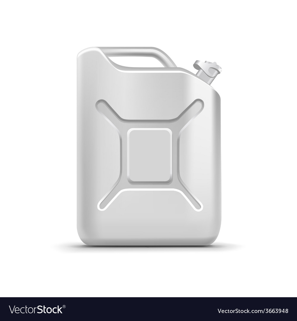 Blank jerrycan canister gallon oil cleanser vector | Price: 1 Credit (USD $1)