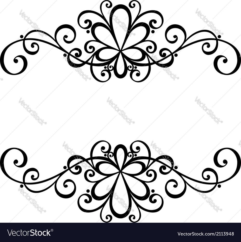 Deco symmetrical element vector | Price: 1 Credit (USD $1)
