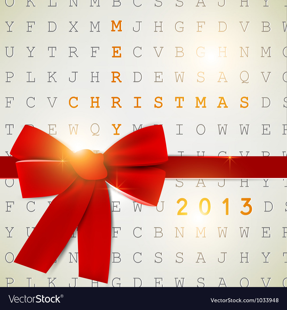 Holiday banner with red ribbons background 2013 vector | Price: 1 Credit (USD $1)