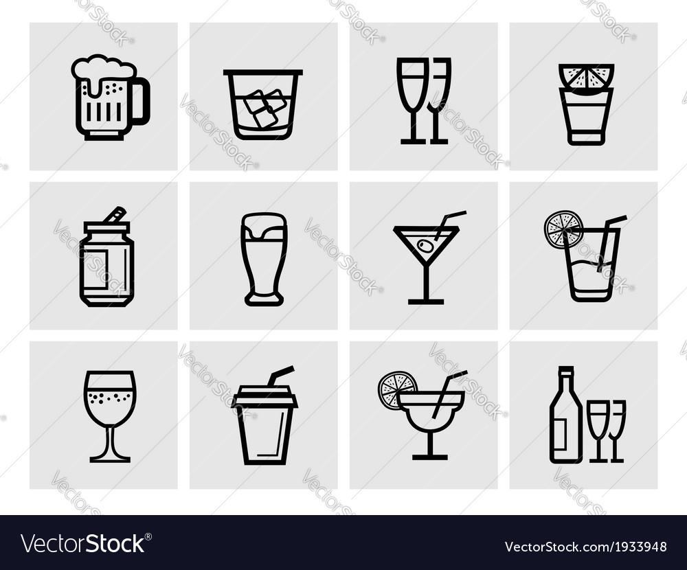 Icon beverage vector | Price: 1 Credit (USD $1)