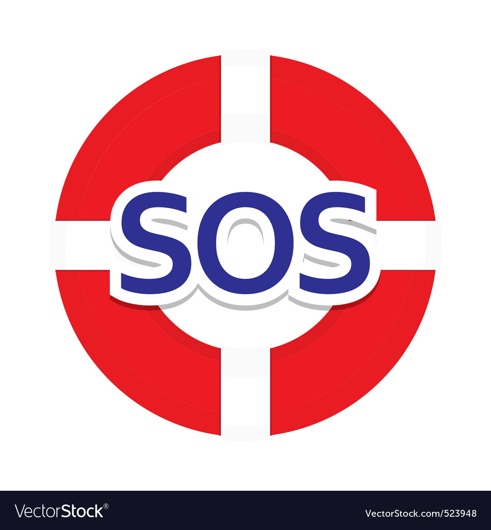 Icon sos vector | Price: 1 Credit (USD $1)