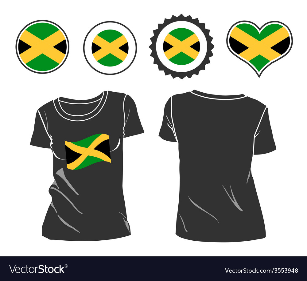 Jamaican t-shirt vector | Price: 1 Credit (USD $1)