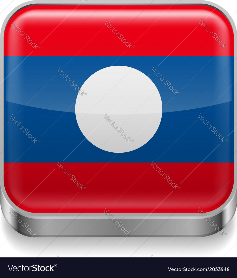 Metal icon of laos vector | Price: 1 Credit (USD $1)