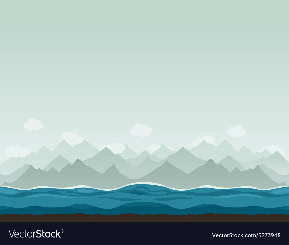 Mountains ashore2 vector | Price: 1 Credit (USD $1)