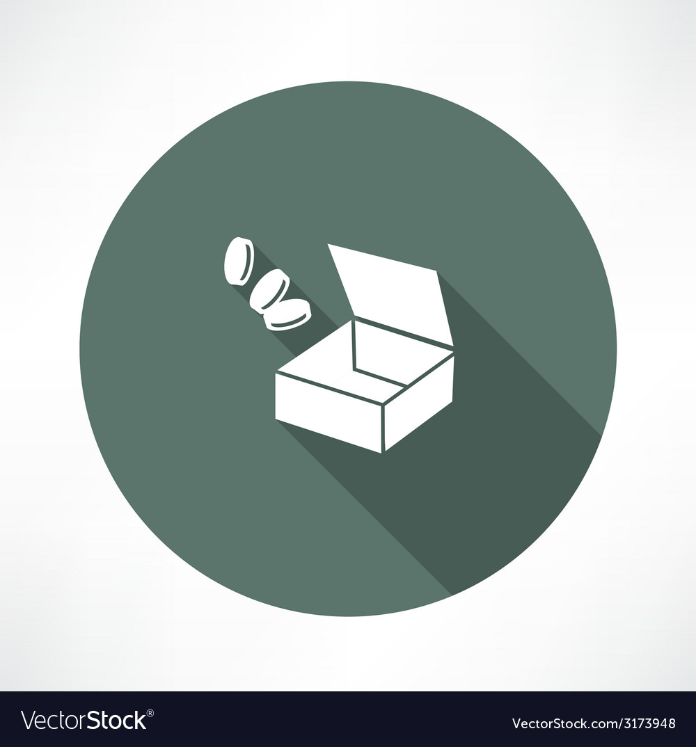 Open box with trifle vector | Price: 1 Credit (USD $1)
