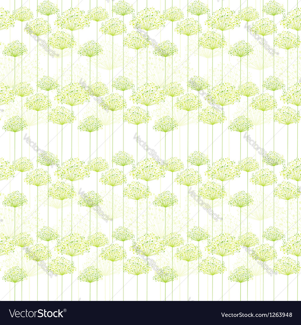 Springtime dandelion seamless pattern vector | Price: 1 Credit (USD $1)