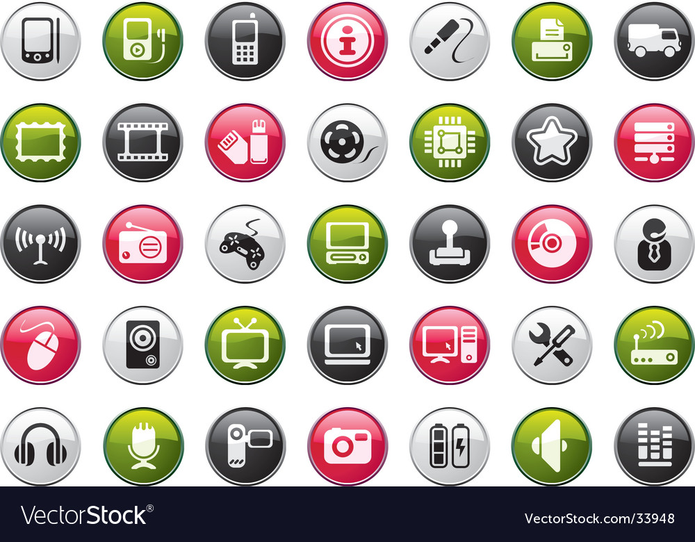 Web icon collection vector | Price: 1 Credit (USD $1)