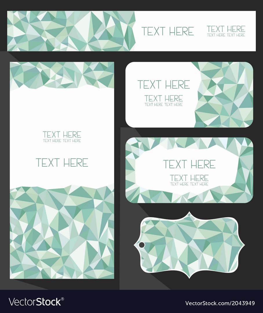 Branding design mosaic set vector   Price: 1 Credit (USD $1)