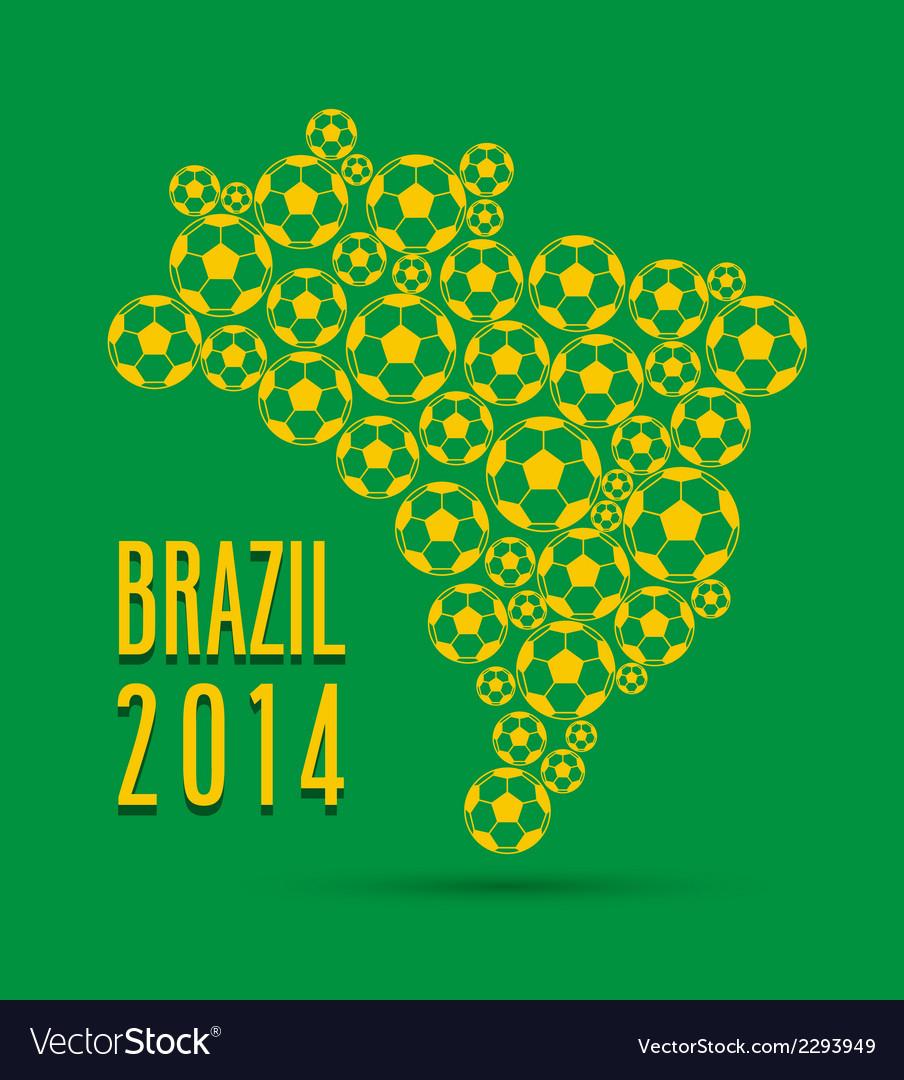 Brazil 2014 creative map vector | Price: 1 Credit (USD $1)