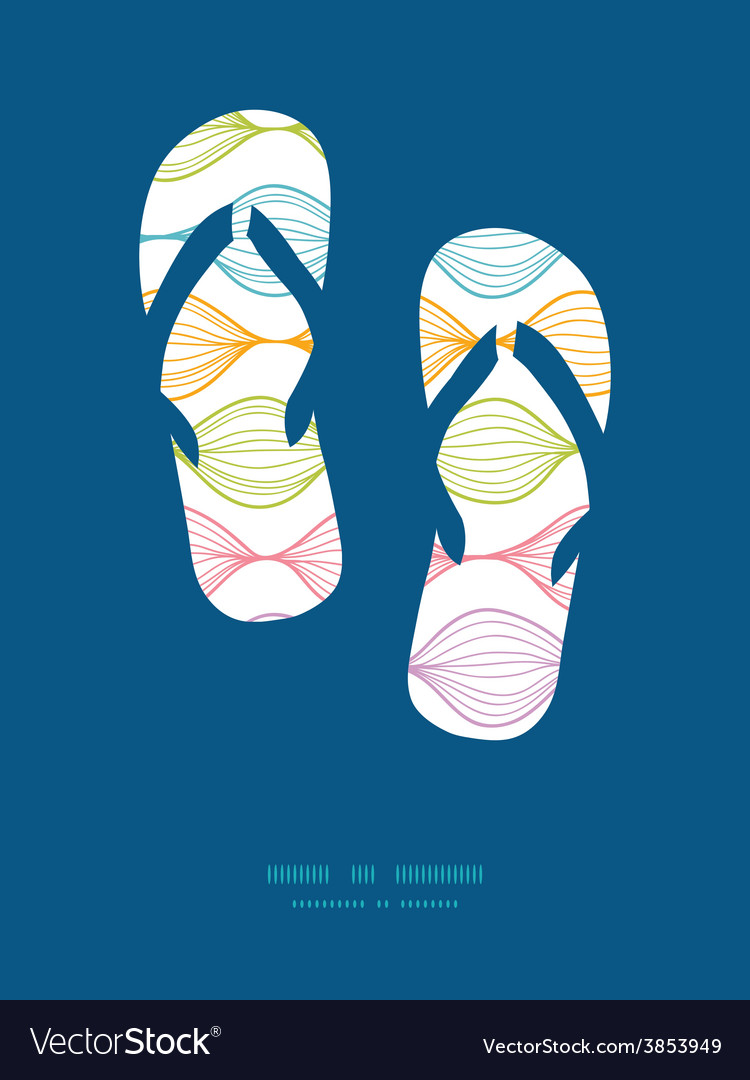 Colorful horizontal ogee flip flops vector | Price: 1 Credit (USD $1)