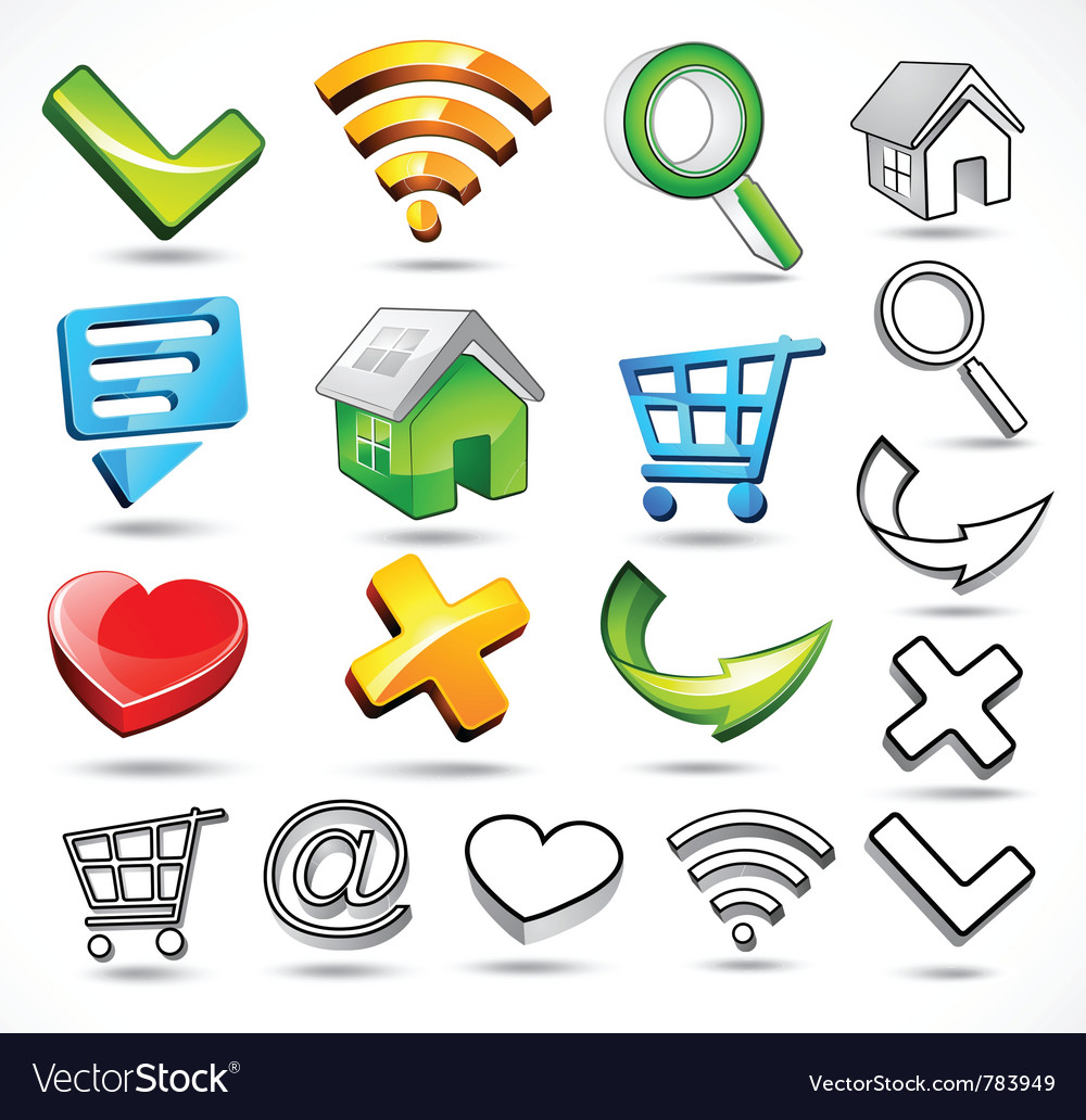 Computer symbols and icons vector | Price: 1 Credit (USD $1)