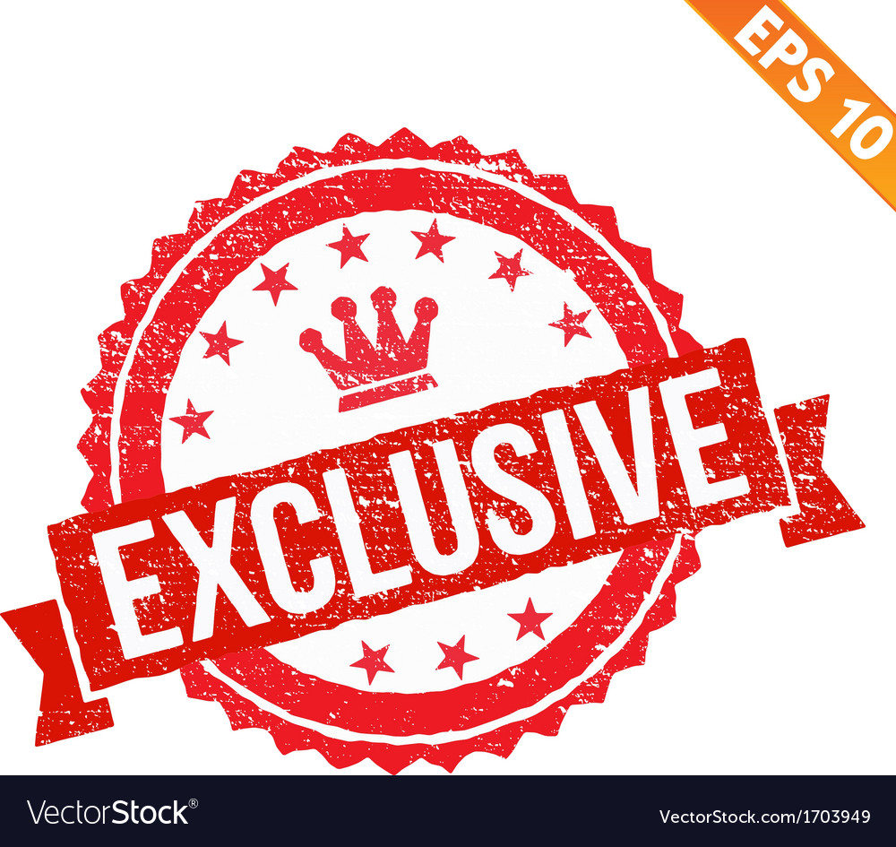 Grunge exclusive rubber stamp - - eps10 vector | Price: 1 Credit (USD $1)