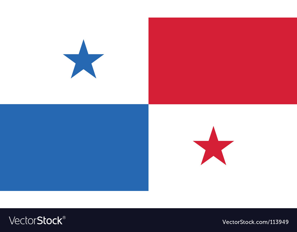 Panama flag vector | Price: 1 Credit (USD $1)