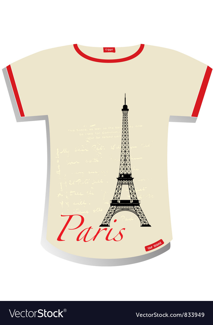 Paris t-shirt vector | Price: 1 Credit (USD $1)