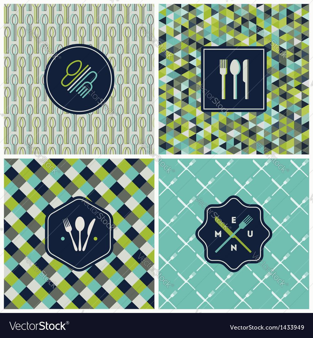 Restaurant menu seamless backgrounds vector   Price: 3 Credit (USD $3)