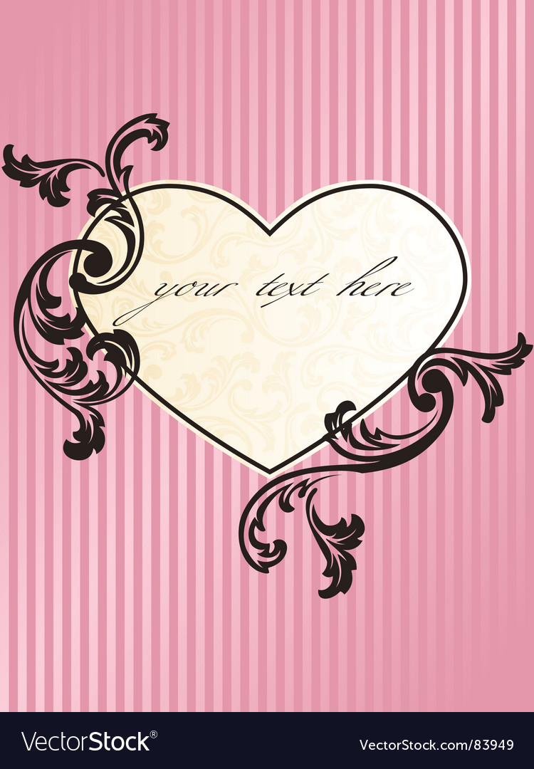 Romantic heart vector | Price: 1 Credit (USD $1)