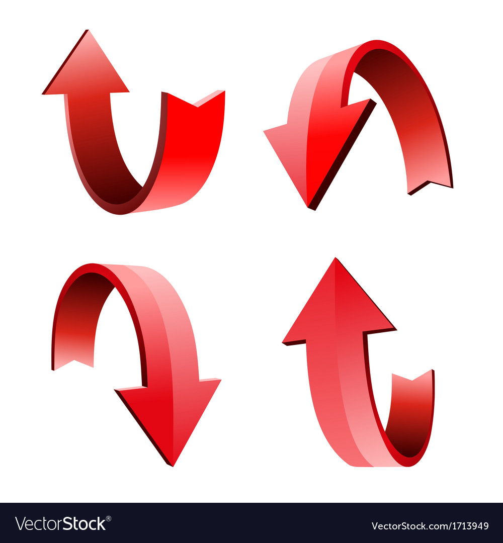 Set of 3d arrow vector | Price: 1 Credit (USD $1)