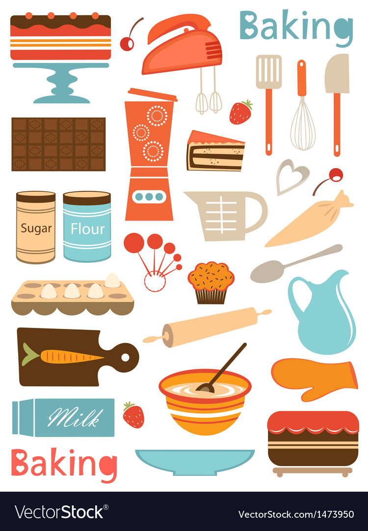 Baking icons vector | Price: 3 Credit (USD $3)
