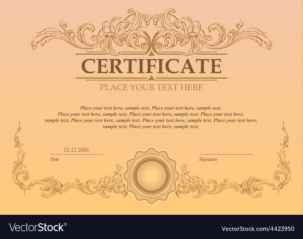 Certificate or coupon template vector | Price: 1 Credit (USD $1)