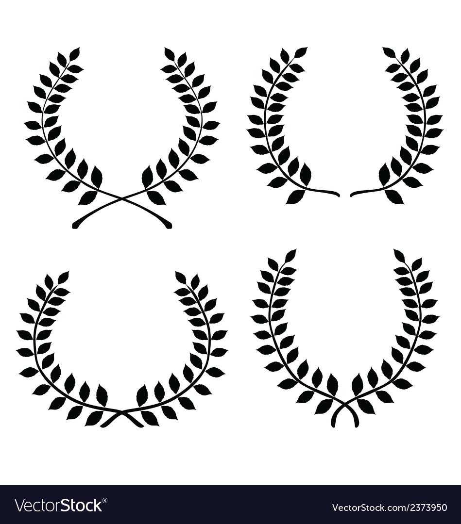 Laurel wreaths vector | Price: 1 Credit (USD $1)