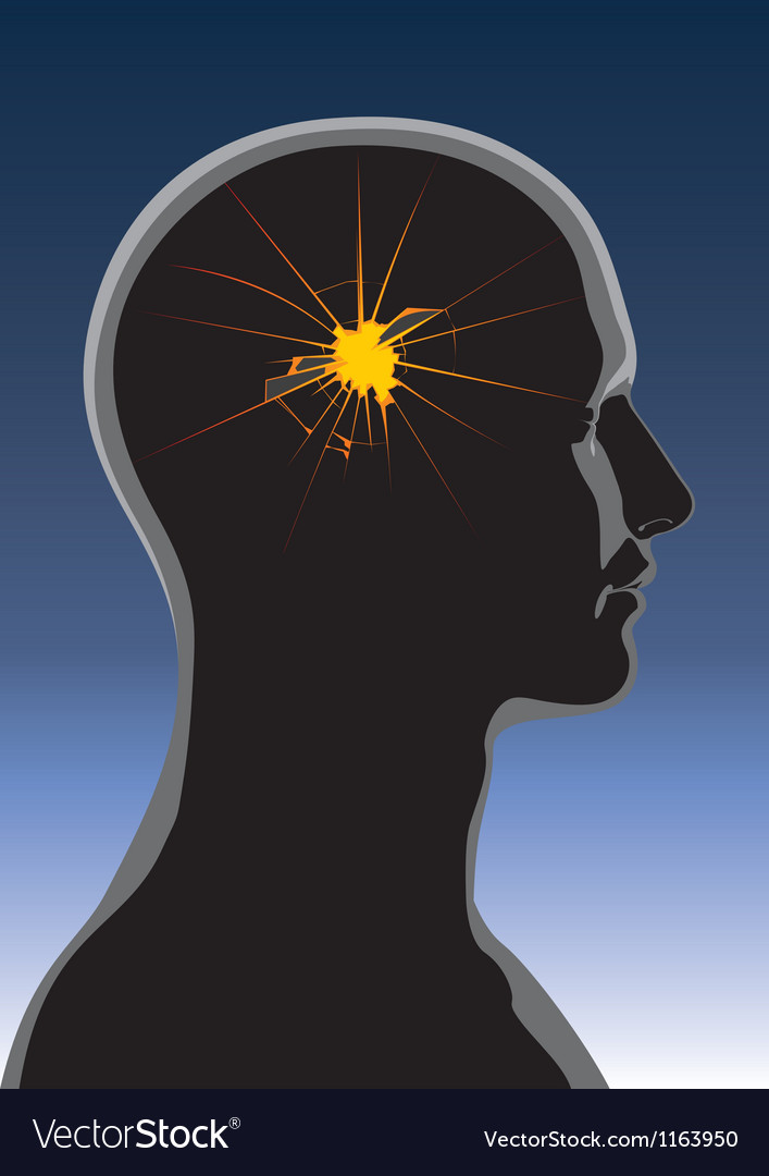 Mental health headache vector | Price: 1 Credit (USD $1)