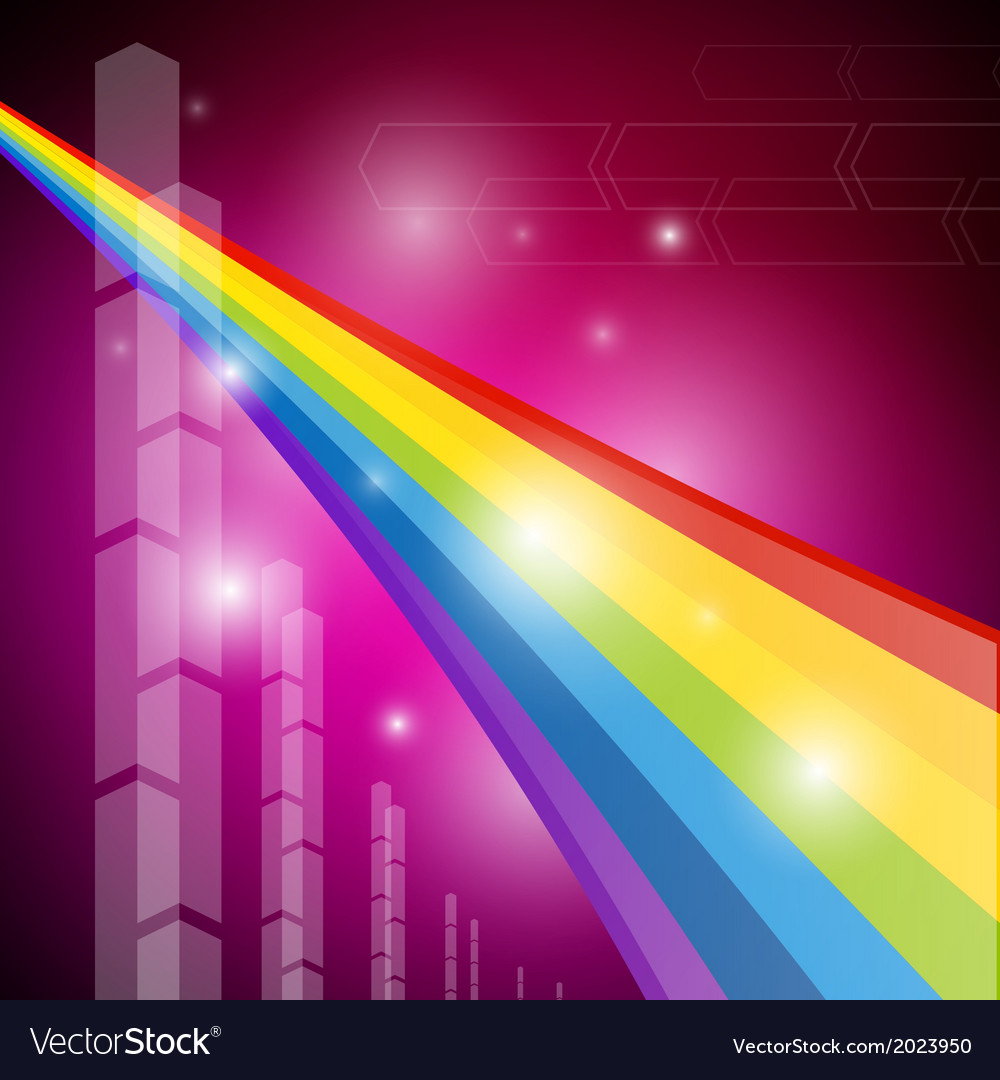 Rainbow color abstract transparent background vector | Price: 1 Credit (USD $1)