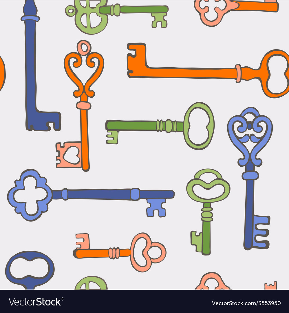 Retro keys stylish background vector | Price: 1 Credit (USD $1)