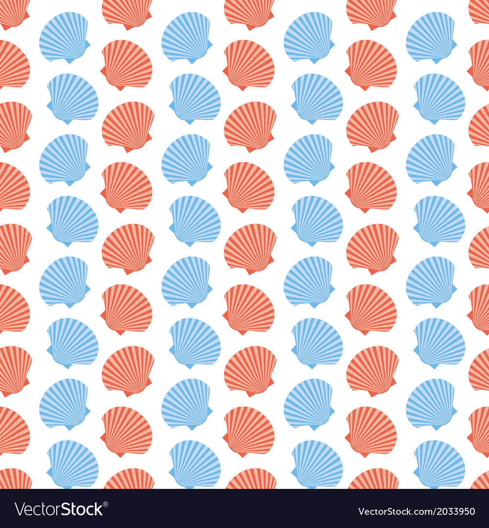 Shellfish scallops seamless texture vector | Price: 1 Credit (USD $1)