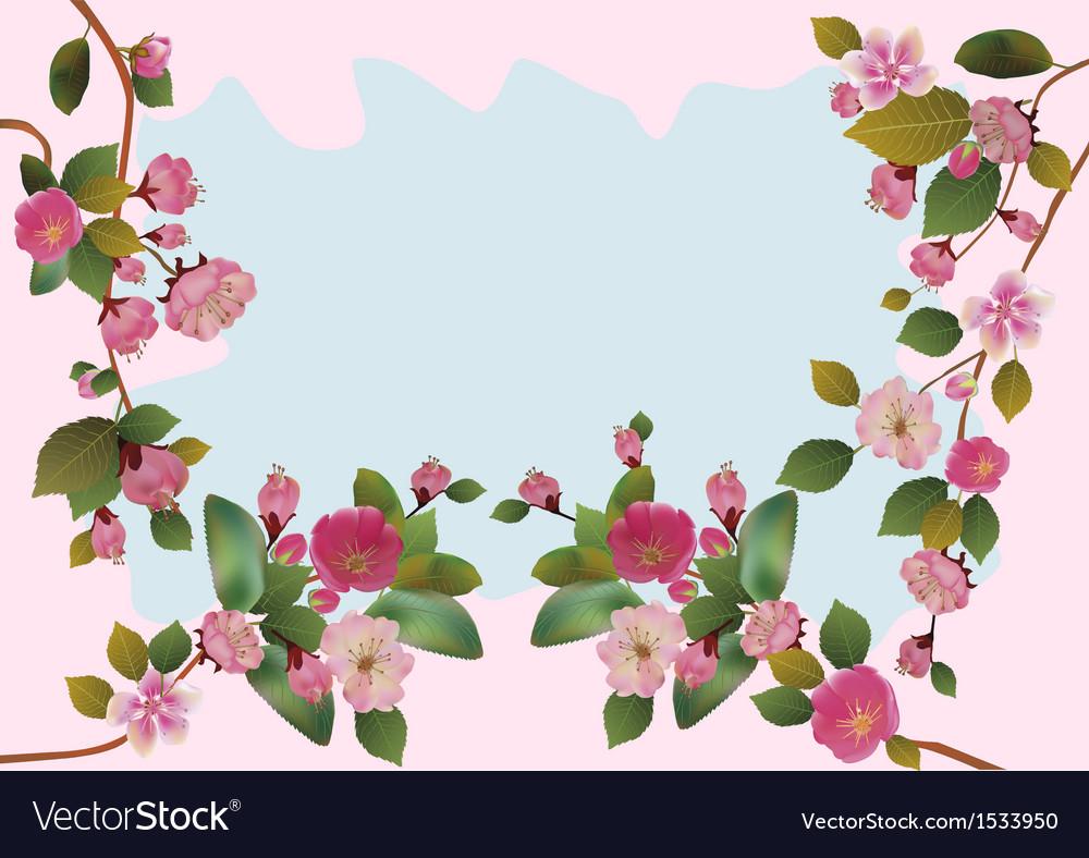 Spring all wakes up flowers sakura vector   Price: 1 Credit (USD $1)