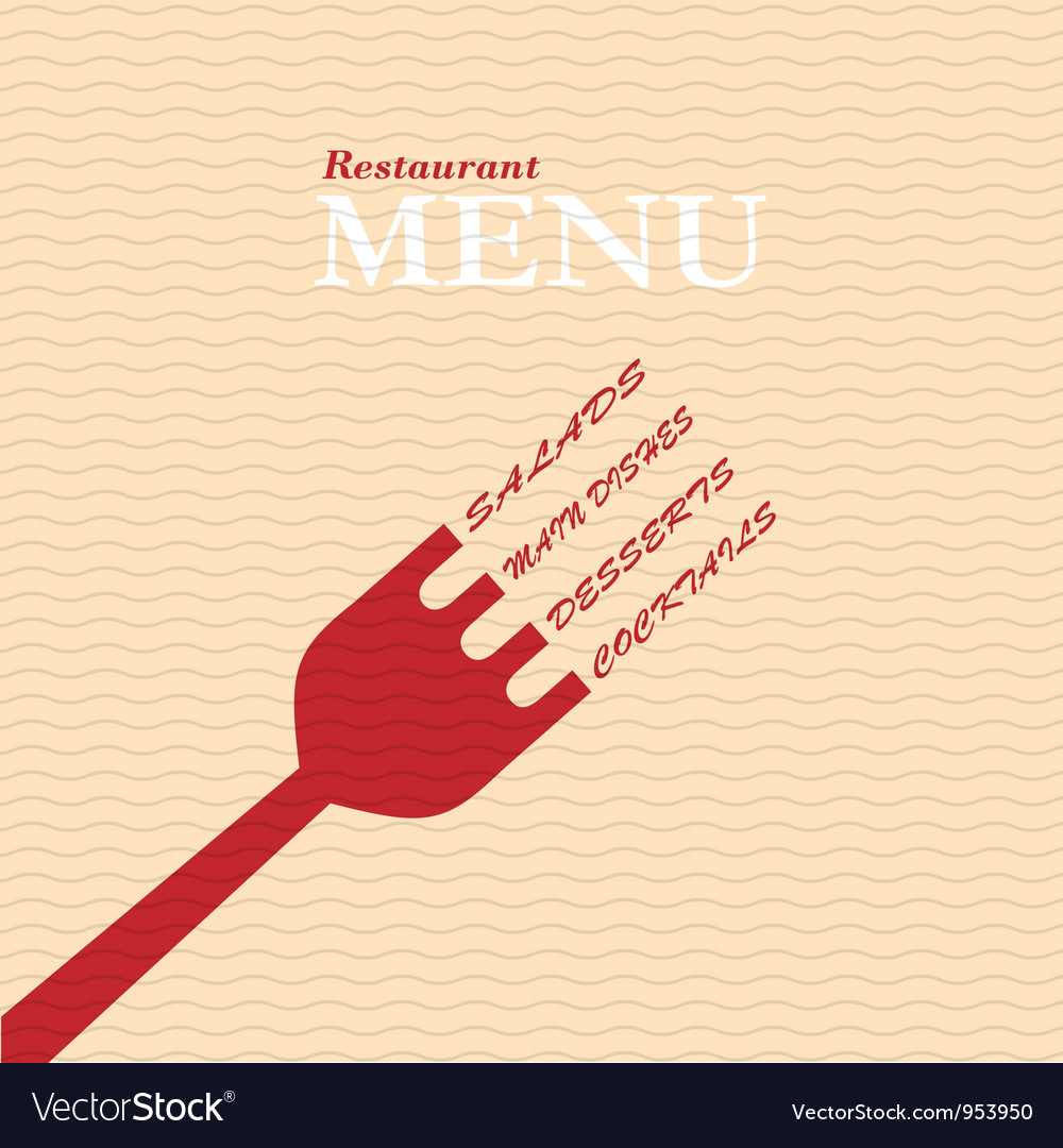 Stylish restaurant menu card vector | Price: 1 Credit (USD $1)