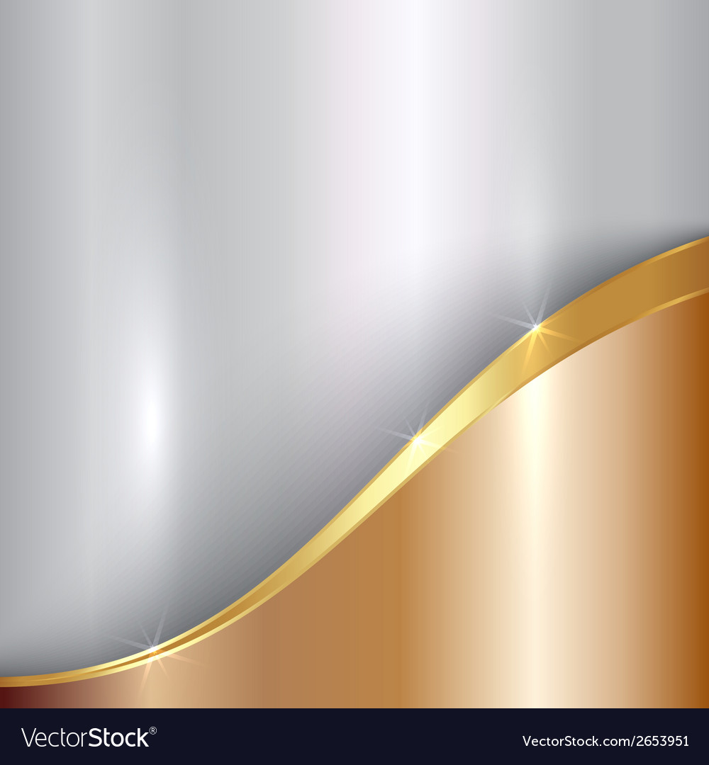 Abstract precious metallic background with curve vector | Price: 1 Credit (USD $1)