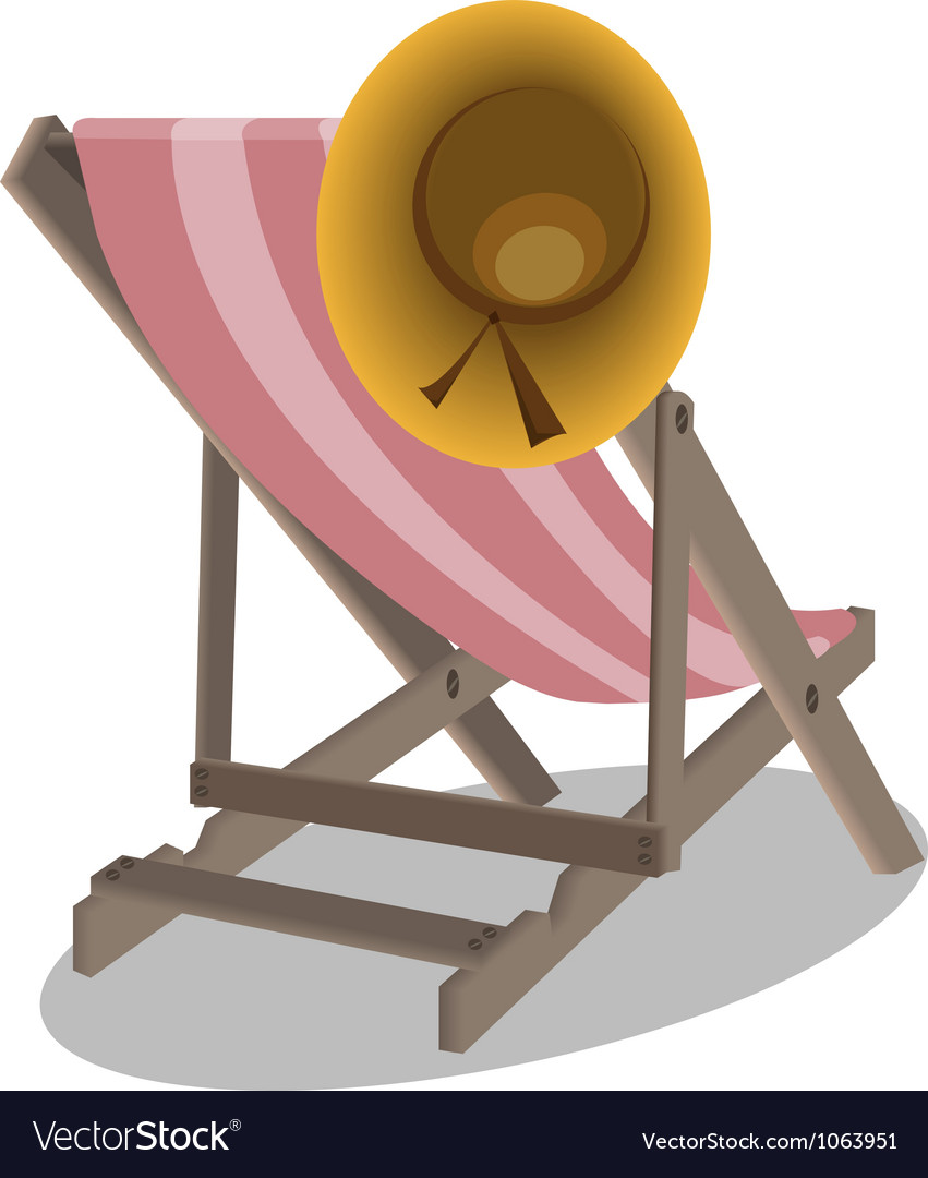 Beach chairs and hat vector | Price: 1 Credit (USD $1)