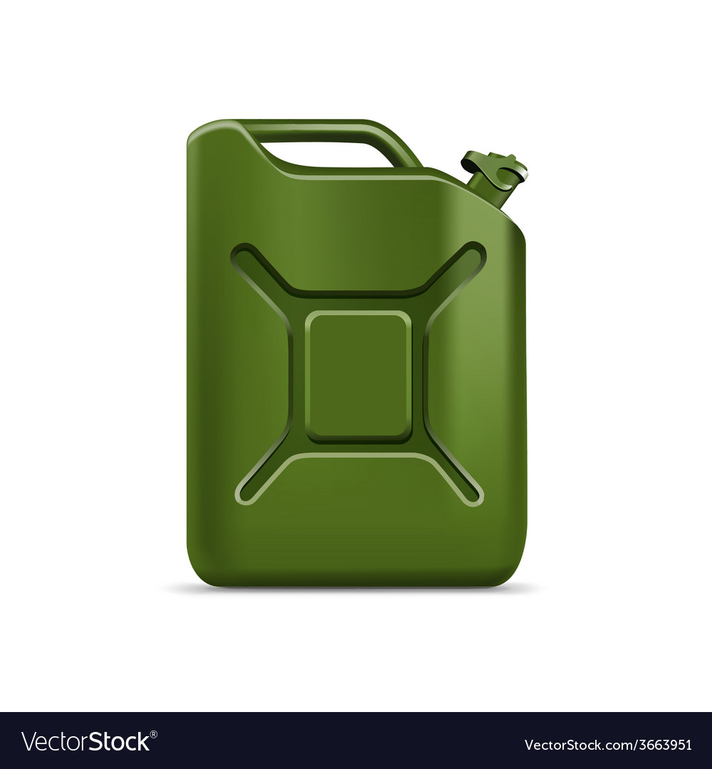 Blank green jerrycan canister gallon oil cleanser vector | Price: 1 Credit (USD $1)
