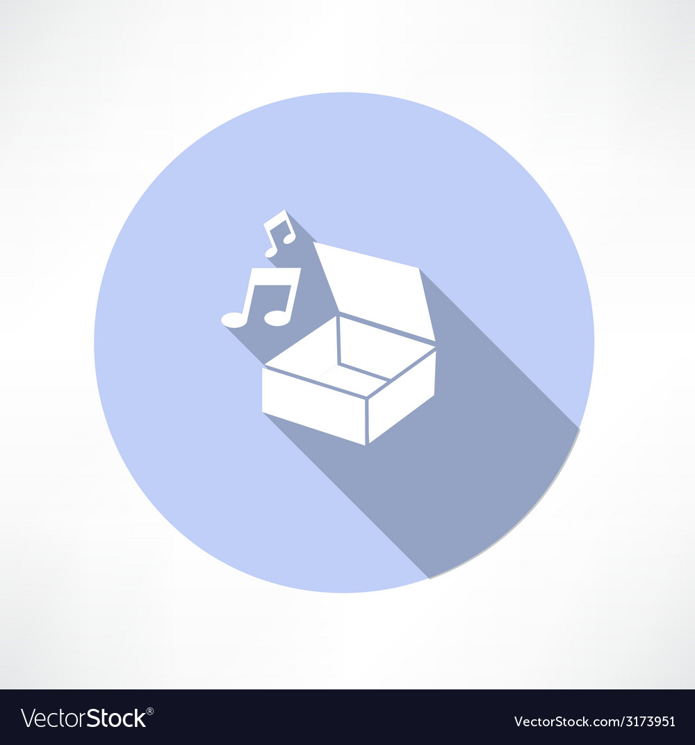 Box with music vector | Price: 1 Credit (USD $1)