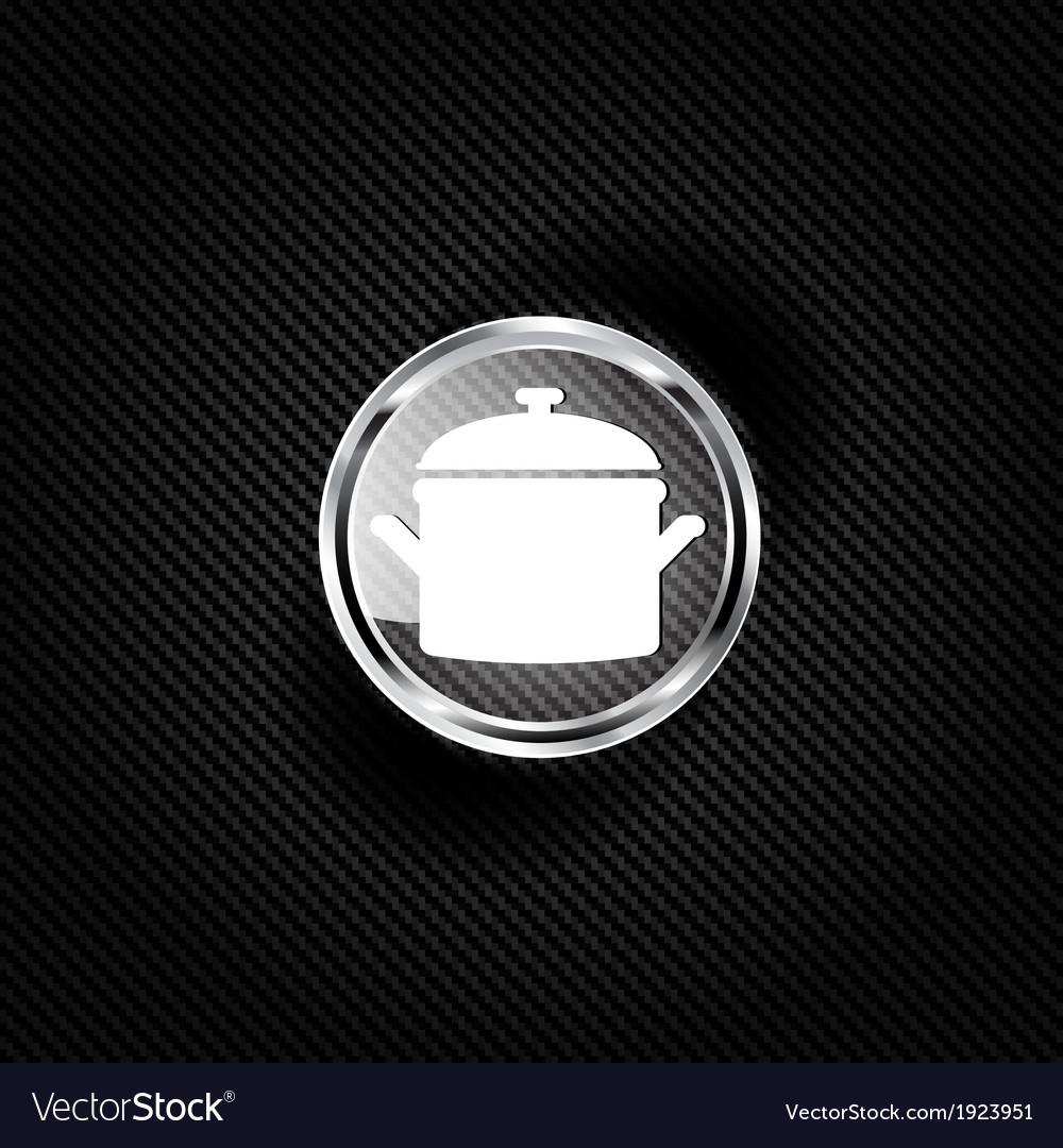 Kitchen pan icon vector | Price: 1 Credit (USD $1)