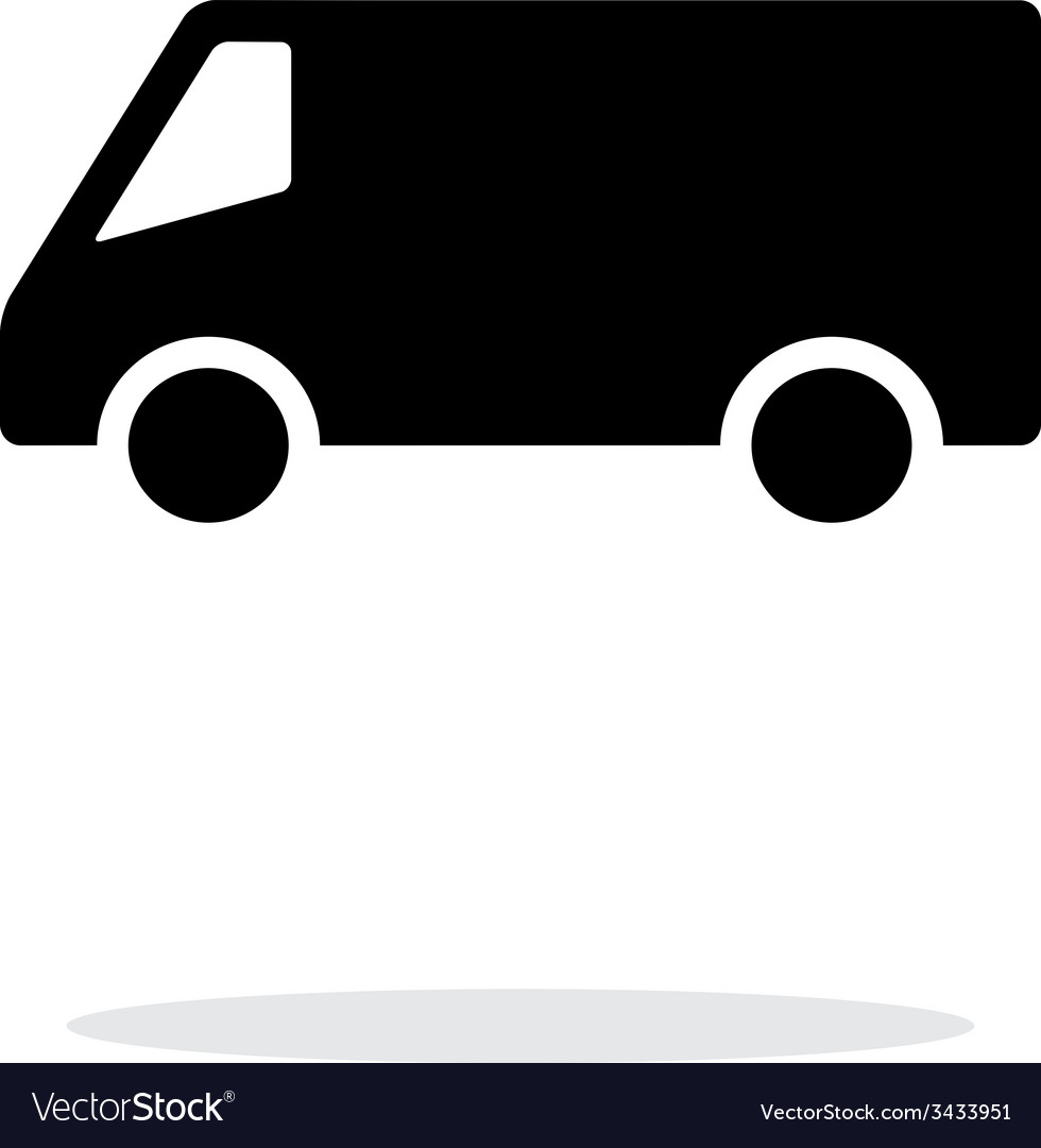 Minibus simple icon on white background vector | Price: 1 Credit (USD $1)