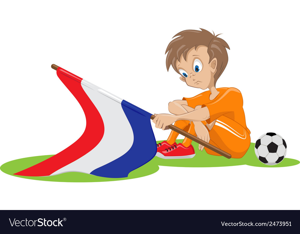 Sad holland soccer fan cartoon vector | Price: 1 Credit (USD $1)