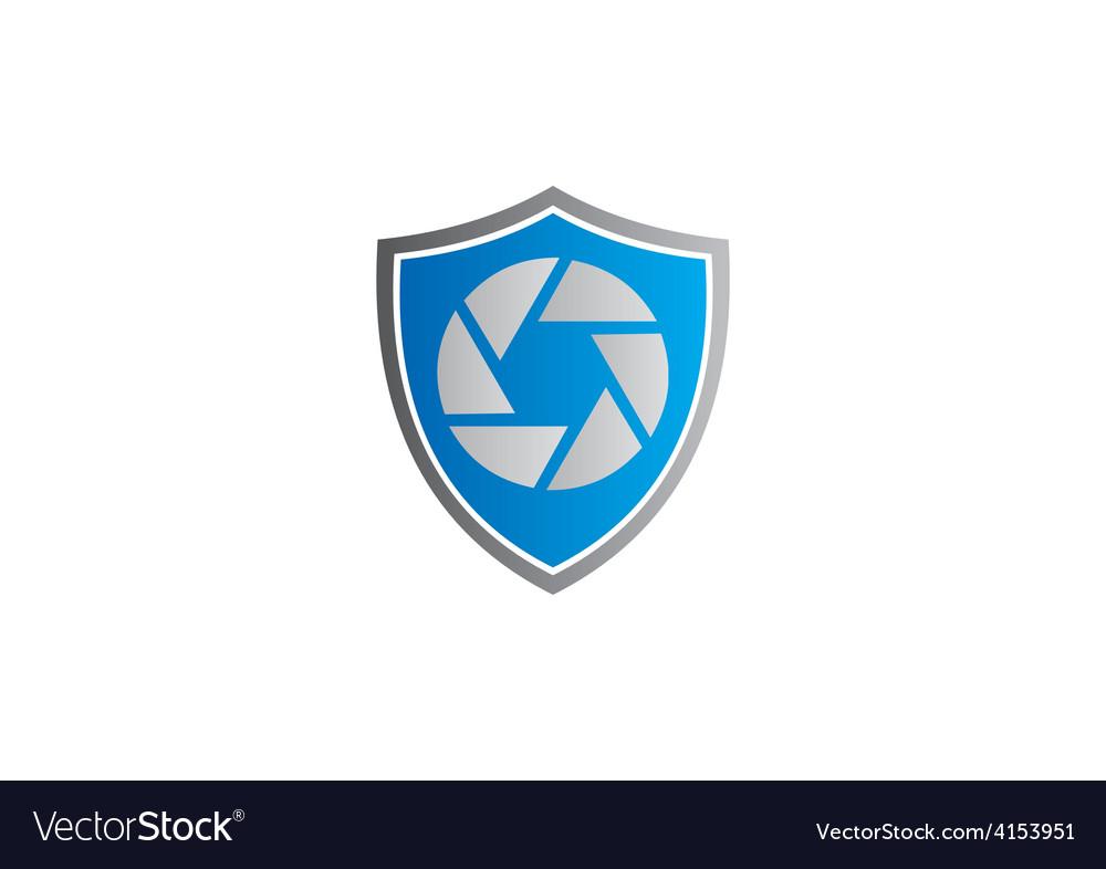 Video media shield protection logo vector | Price: 1 Credit (USD $1)